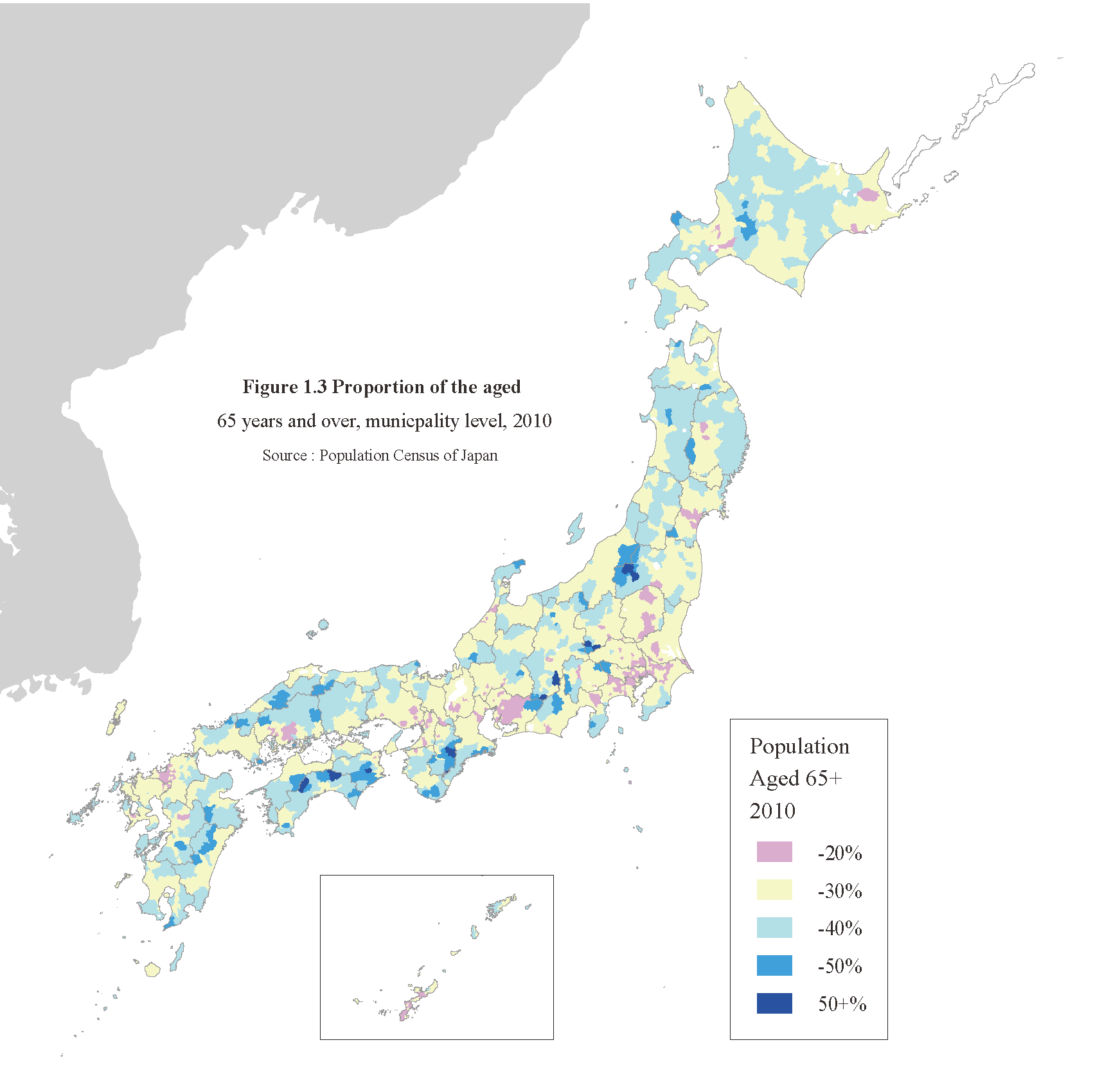 Social Security In Japan Overview Of Population Trends In - Japan map 2014